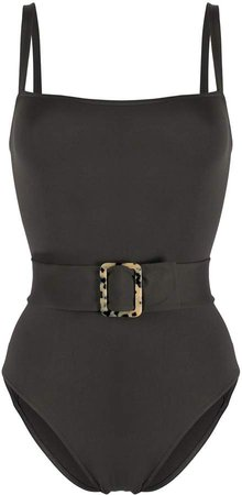 Square Neck Belted Swimsuit