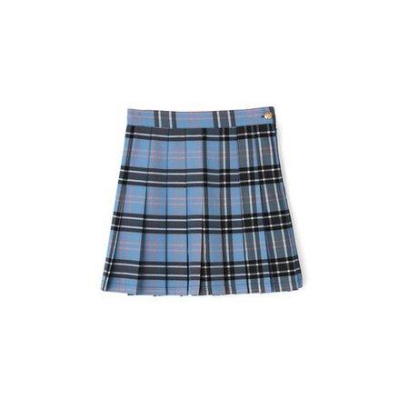 Blue Tartan Classic School Girl Mini Skirt