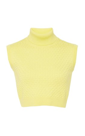 Versace Cropped Knit Top