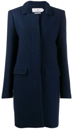 single-breasted fitted coat