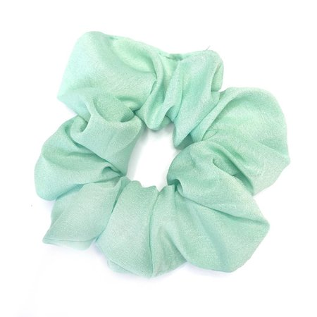 mint green scrunchie