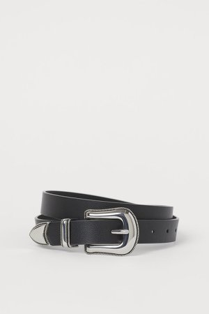 Belt with Large Buckle - Black