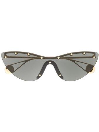 Gucci Eyewear Cat-Eye Mask Sunglasses 610405I3330 Black | Farfetch