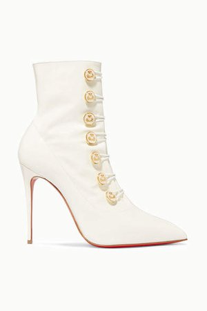 Liossima 100 Patent-leather Ankle Boots - White