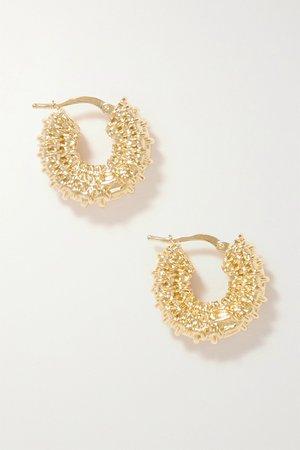 Gold Gold-tone hoop earrings | Bottega Veneta | NET-A-PORTER