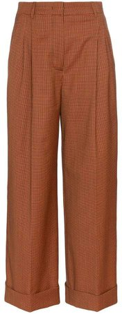 micro-houndstooth cropped trousers