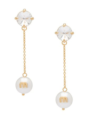 Miu Miu Solitaire Jewels Earrings | Farfetch.com