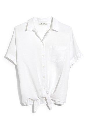 Madewell | Short Sleeve Tie Front Shirt | Nordstrom Rack