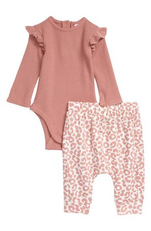 Nordstrom Waffle Bodysuit & Pants Set (Baby)   Nordstrom
