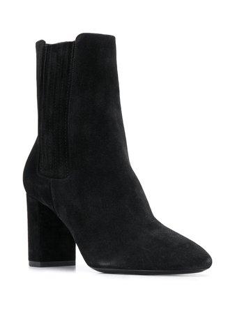 Saint Laurent Almond Toe Ankle Boots - Farfetch