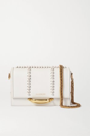 Off-white The Story leather shoulder bag | Alexander McQueen | NET-A-PORTER