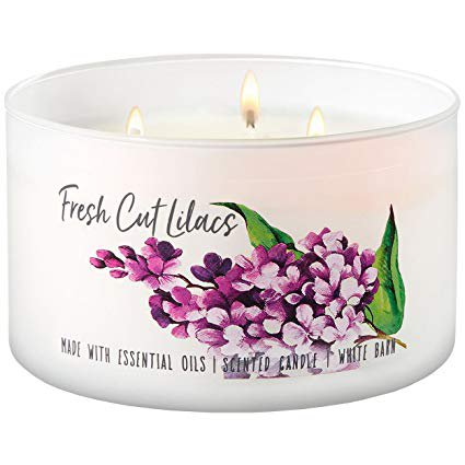 fresh cut lilacs scented candle bath + body works