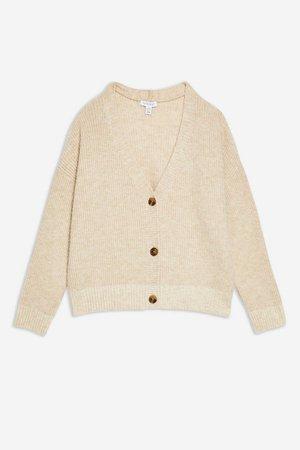 Super Soft Button Cardigan | Topshop cream