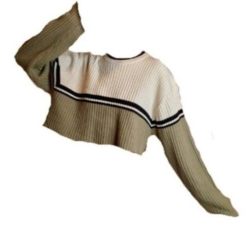Sweater with a stripe