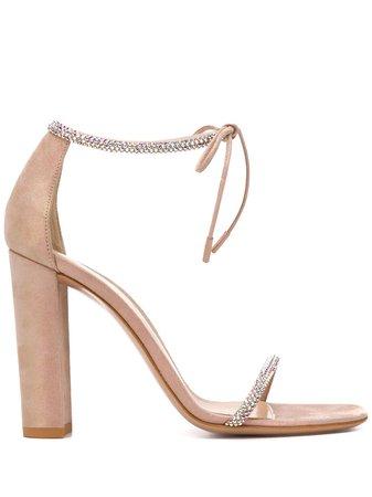 Gianvito Rossi Aria rhinestone-embellished Sandals - Farfetch