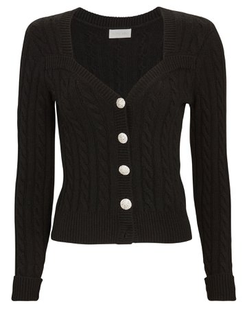 Jaelynn Cropped Cable Knit Cardigan