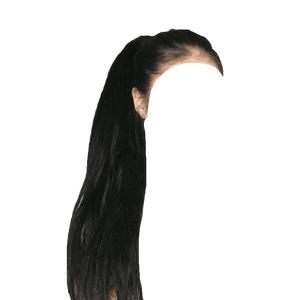 Long Black Hair Ponytail