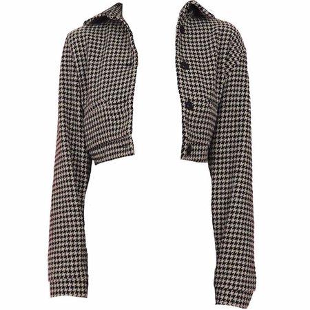 Black & White Checkered Blazer (png)