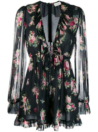 Zimmermann Honour Floral Playsuit - Farfetch