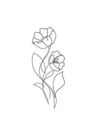 line art flower