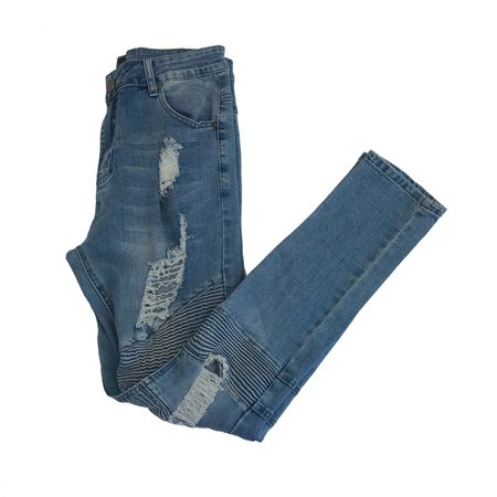 BoohooMan Men's Light Wash Blue Extreme Ripped Skinny Jeans Size 32 RRP $57 | eBay