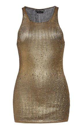 Metallic Cashmere And Silk-Blend Tank Top By Tom Ford | Moda Operandi
