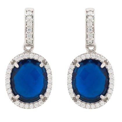 Splash Earring Blue Topaz Gold | LATELITA | Wolf & Badger
