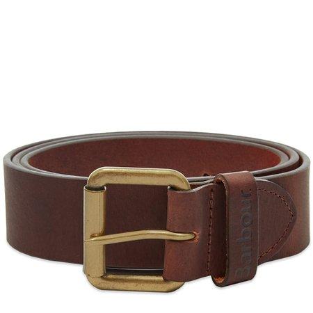 Barbour Matt Leather Belt Matt Brown | END.