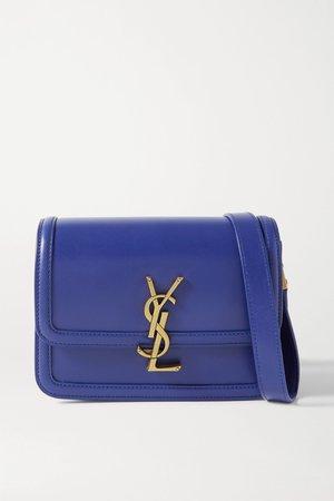 Blue Solferino small leather shoulder bag | SAINT LAURENT | NET-A-PORTER