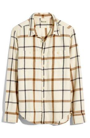 Madewell Windowpane Plaid Flannel Shirt | Nordstrom