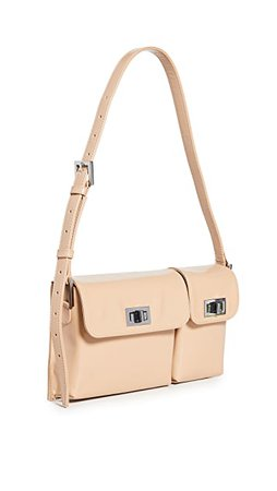 BY FAR Billy Cream Semi Patent Leather Bag | SHOPBOP