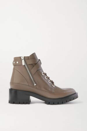 Space For Giants Hayett Lace-up Leather Ankle Boots - Taupe