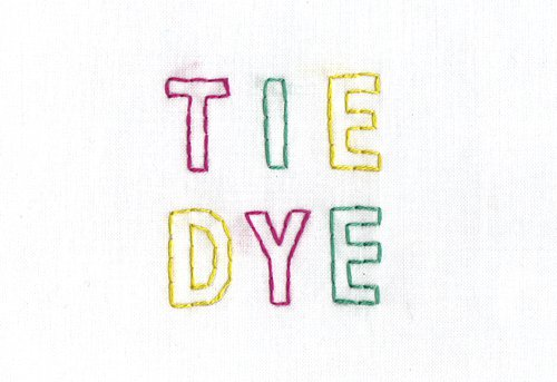 tie dye word - Google Search