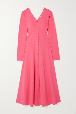 Roberta Stretch-cotton Jersey Midi Dress - Pink