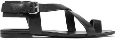 Hiandra Leather Sandals - Black