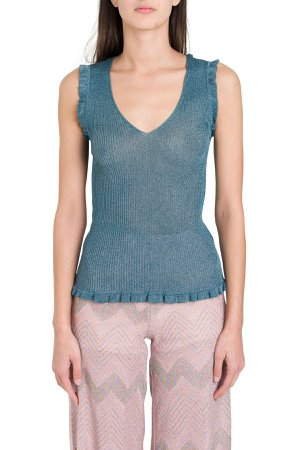 Tank Top In Ribbed Lurex Knit