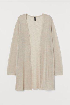 Loose-knit Cardigan - Light beige melange - Ladies | H&M US