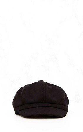 Black Baker Boy Hat | Accessories | PrettyLittleThing
