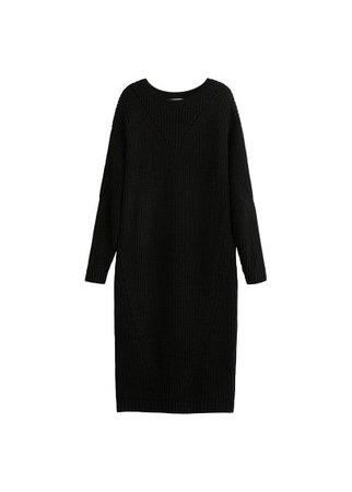 MANGO Open-work long dress