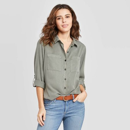 Women's Long Sleeve Button-Down Shirt - Universal Thread™ : Target