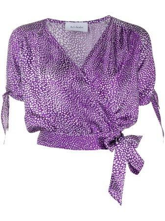 Art Dealer Dotted Print Wrap Shirt - Farfetch