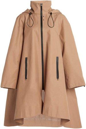Low Classic Oversized Gabardine Rain Jacket