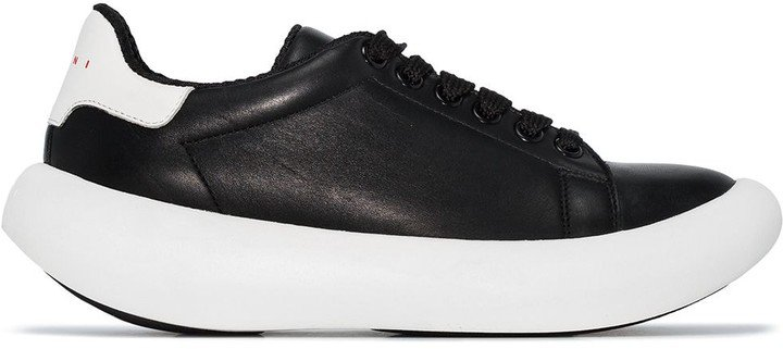 Low-Top Thick-Sole Sneakers