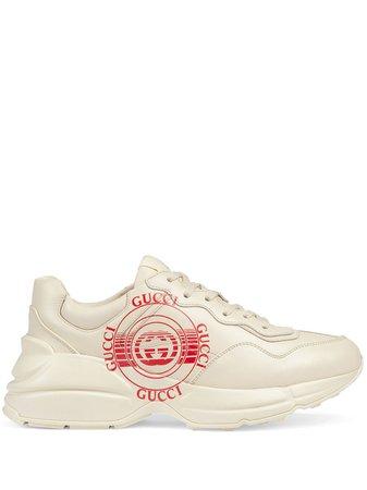 Gucci Zapatillas Rhyton Con Logo Estampado - Farfetch