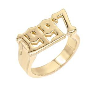 Gold Year Ring | Adina's Jewels