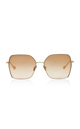 Sunday Somewhere Suja Square-Frame Metal Sunglasses
