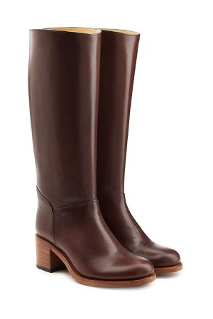 Leather Knee Boots Gr. IT 39