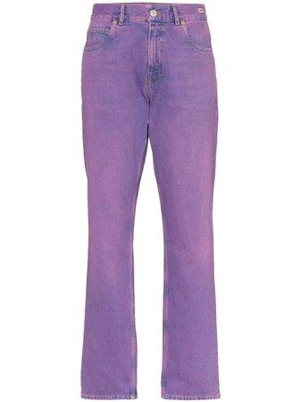 Purple Martine Rose Mid Rise Straight Leg Jeans   Farfetch.com