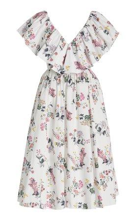 Jarvis Floral-Printed Cotton Maxi Dress By Emilia Wickstead | Moda Operandi