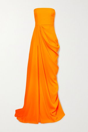 Orange Reed draped crepe strapless gown | Alex Perry | NET-A-PORTER